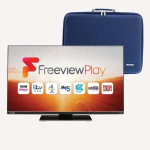 249DSFVP 24″ TV Freeview Play Satellite Decoder Full HD & 24″ Carry Case  Bundle